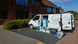 Commercial Carpet cleaning set up