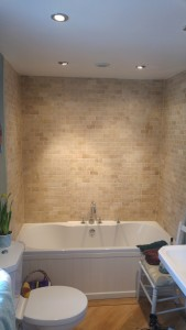 Travertine bathroom cleaning Worcester
