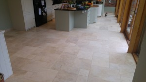 Travertine kitchen tile cleaning